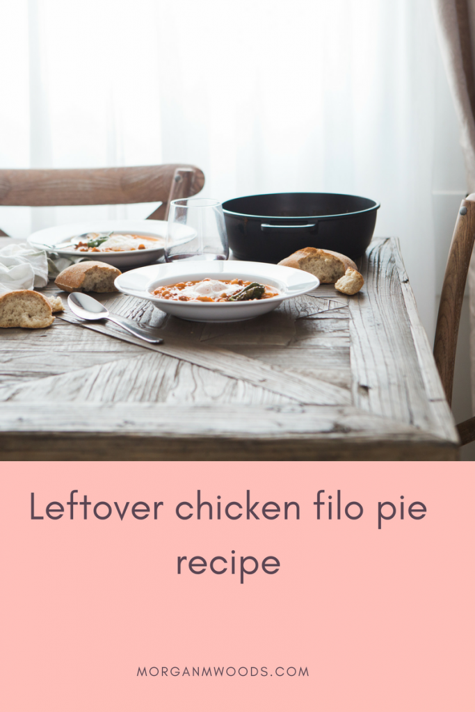 Leftover roast chicken filo pie recipe