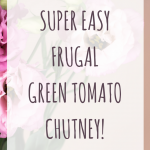 Got green tomatoes? Make this easy frugal chutney!