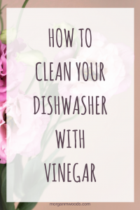 How to clean your dishwasher with vinegar