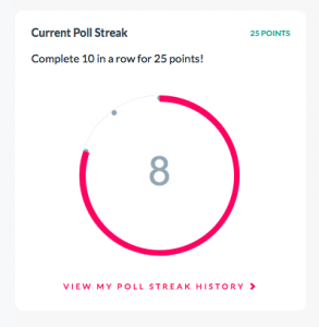 Daily Poll Streak