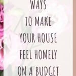 Ways to make your house feel homely on a budget